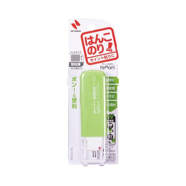 【スーパーセールでポイント最大44倍】(まとめ) ニチバン テープのり tenori はんこのり 本体 7mm×6.5m グリーン TN-TE7H3 1個 【×30セット】