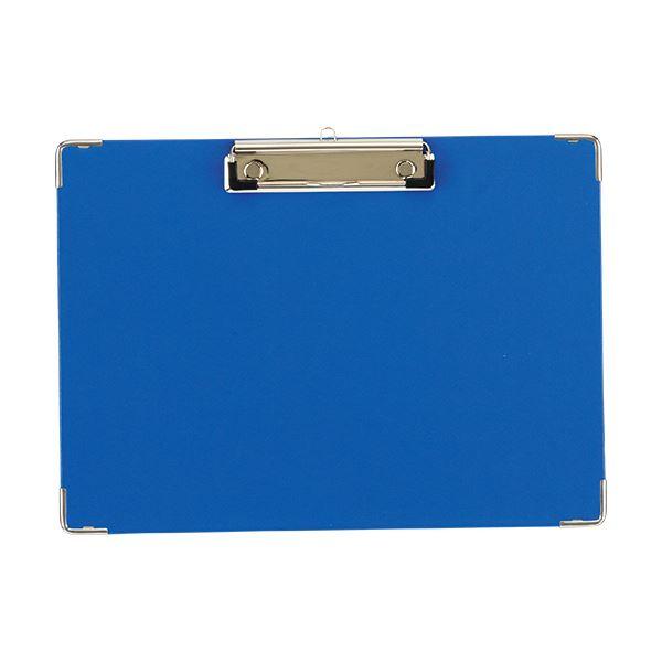 【スーパーセールでポイント最大44倍】(まとめ) TANOSEE 用箋挟 A4ヨコ ブルー 1枚 【×30セット】