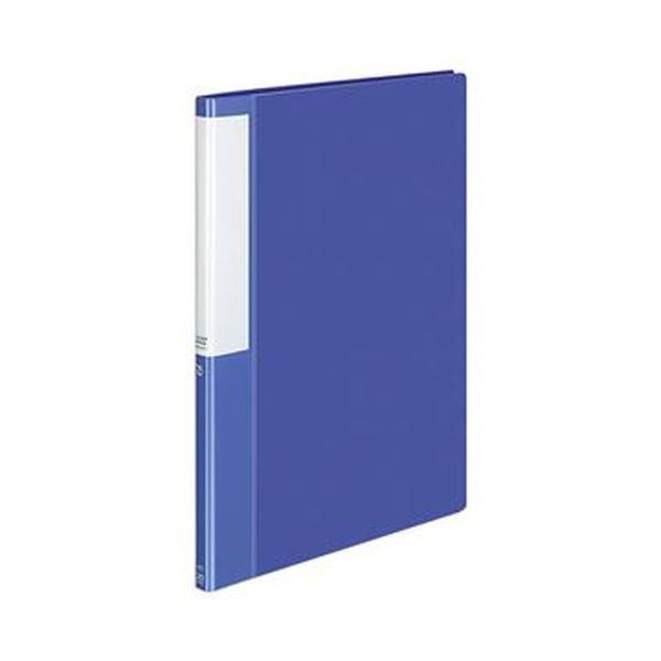 (まとめ)コクヨ クリヤーブック(POSITY)固定式 A4タテ 20ポケット 背幅15mm ブルー P3ラ-L20NB 1セット(10冊)【×5セット】