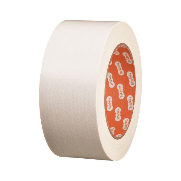 (まとめ) TANOSEE 布テープ(カラー) 50mm×25m 白 1巻 【×30セット】