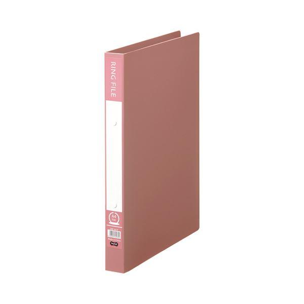 【スーパーセールでポイント最大44倍】(まとめ) TANOSEE リングファイル(再生PP表紙) A4タテ 2穴 200枚収容 背幅30mm ピンク 1冊 【×30セット】