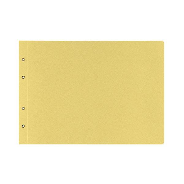 【スーパーセールでポイント最大44倍】(まとめ)コクヨ 綴込表紙C クラフトタイプB4ヨコ 4穴 ツ-53 1セット(10組20枚:1組2枚×10パック) 【×5セット】
