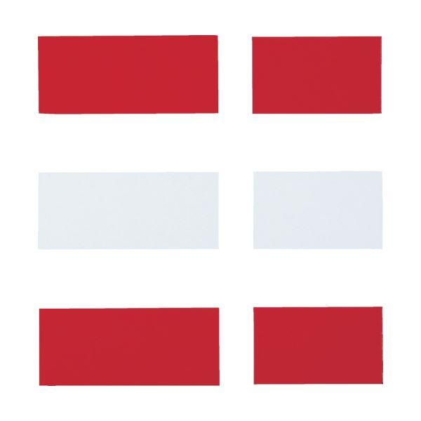 (まとめ) TRUSCOマグネットダブルカラーシート 赤・白 MWC-RW 1セット 【×30セット】