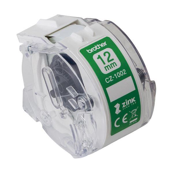 (まとめ) ブラザー 感熱フルカラーラベルプリンターピータッチカラー用ロールカセット 12mm幅×長さ5m CZ-1002 1個 【×5セット】