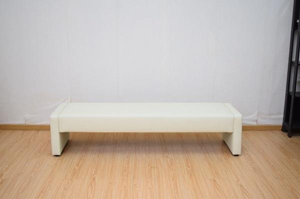 【特別セール品】 組立式デザインベンチ W180ホワイト 180X50X42cm, 大任町 4c4d1bfd