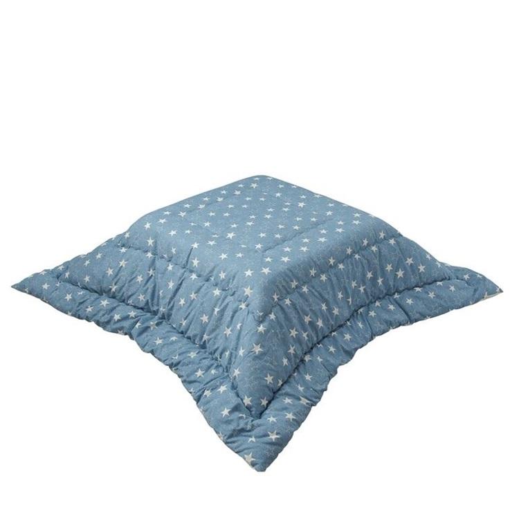 綿素材でしっかり長く使える日本製のこたつ布団 長方形(185×240cm)【サックス】