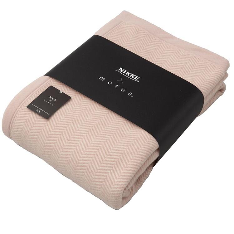NIKKE×mofua ウール100%(毛羽部分)洗える毛布 シングル【ピンク】