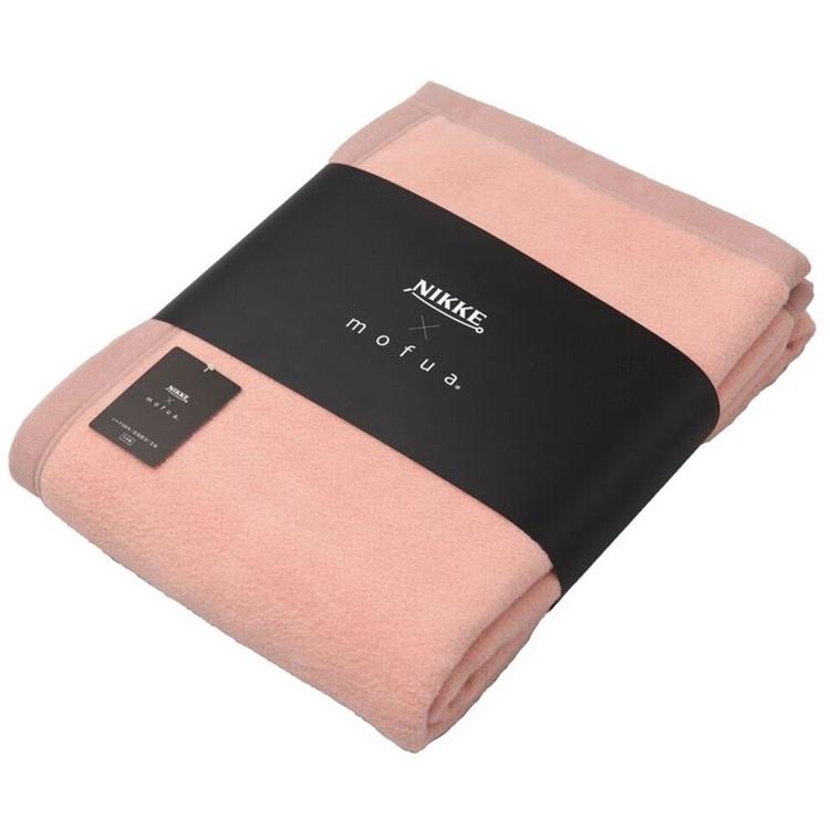 NIKKE×mofua シルク100%(毛羽部分)毛布 シングル【ピンク】
