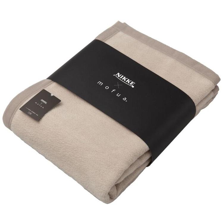 NIKKE×mofua シルク100%(毛羽部分)毛布 シングル【グレージュ】