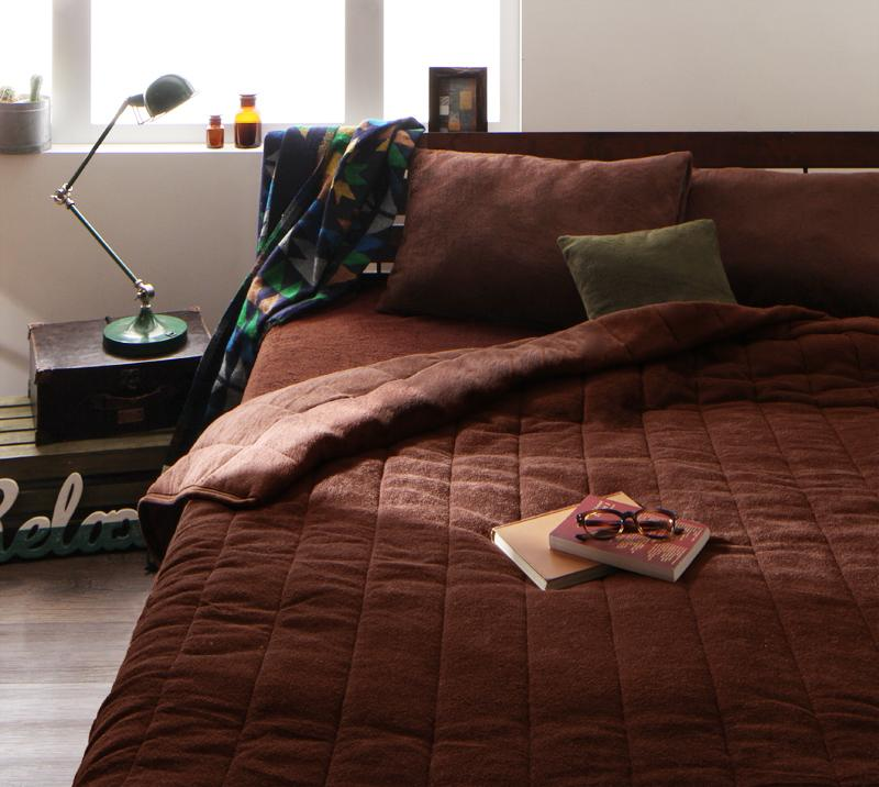 20色から選べる!365日気持ちいい!コットンタオル ケット・パッド キルトケット・ベッド用ボックスシーツセット ダブル