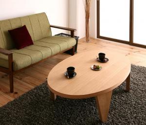 天然木和モダンデザイン 円形折りたたみテーブル MADOKA まどか だ円形タイプ 楕円形(W120)