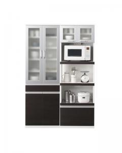 開梱設置付 奥行41cmの薄型モダンデザインキッチン収納 Sfida スフィーダ 食器棚+キッチンボードセット 幅60+60