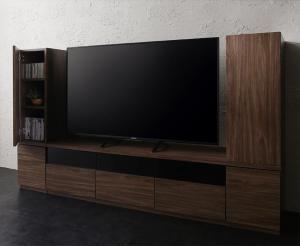 キャビネットが選べるテレビボードシリーズ add9 アドナイン 3点セット(テレビボード+キャビネット×2) 木扉 幅140