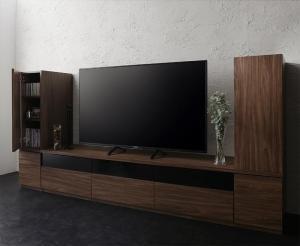 キャビネットが選べるテレビボードシリーズ add9 アドナイン 3点セット(テレビボード+キャビネット×2) 木扉 幅180【代引不可】