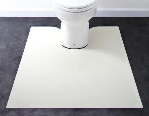 拭ける・はっ水 本革調モダンダイニングラグ・マット selals セラールス トイレマット 80×95cm【代引不可】