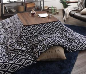ヴィンテージ調 幾何柄織りこた布団 ASSEN アッセン こたつ用掛け布団 4尺長方形(80×120cm)天板対応【代引不可】