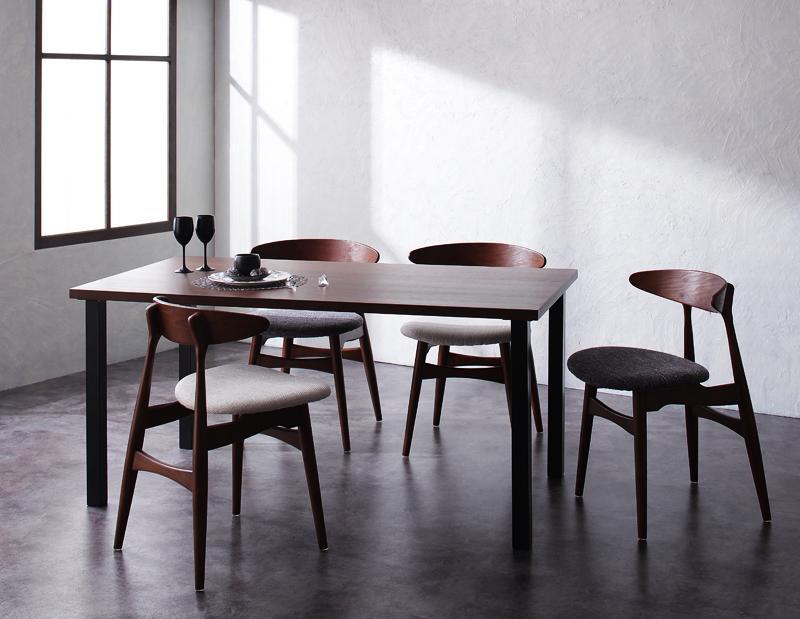 デザイナーズダイニングセット TOMS トムズ 5点セット(テーブル+チェア4脚) スタンダードチェア W150