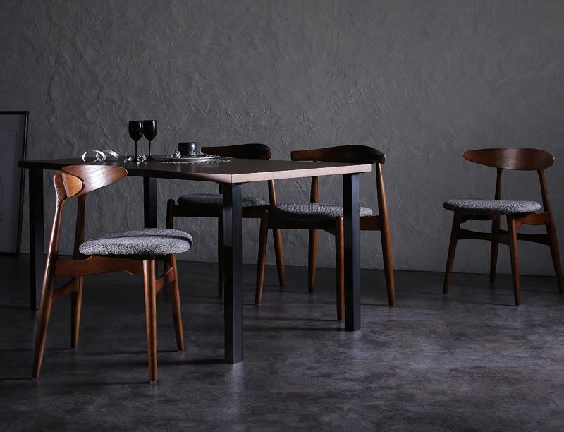 デザイナーズダイニングセット TOMS トムズ 5点セット(テーブル+チェア4脚) ミックス W150