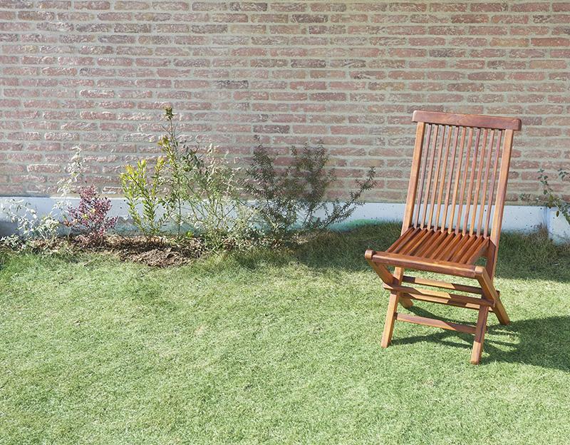 チーク天然木 折りたたみ式本格派リビングガーデンファニチャー fawn フォーン ガーデンチェア 2脚組 肘無