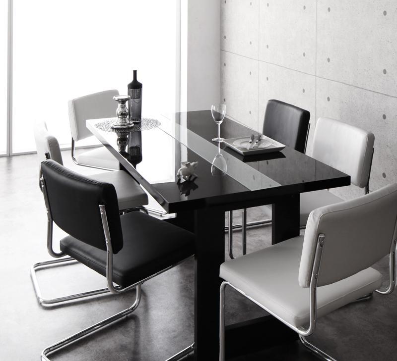 イタリアン モダン デザインダイニングセット Vermut ヴェルムト 7点セット(テーブル+チェア6脚) W150