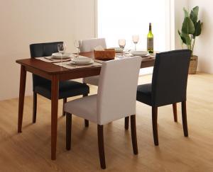 さっと拭ける PVCレザーダイニング fassio ファシオ 5点セット(テーブル+チェア4脚) W150
