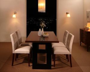 ホテルスタイル レザー ダイニング Le Hyatt ル・ハイアット 5点セット(テーブル+チェア4脚) W150