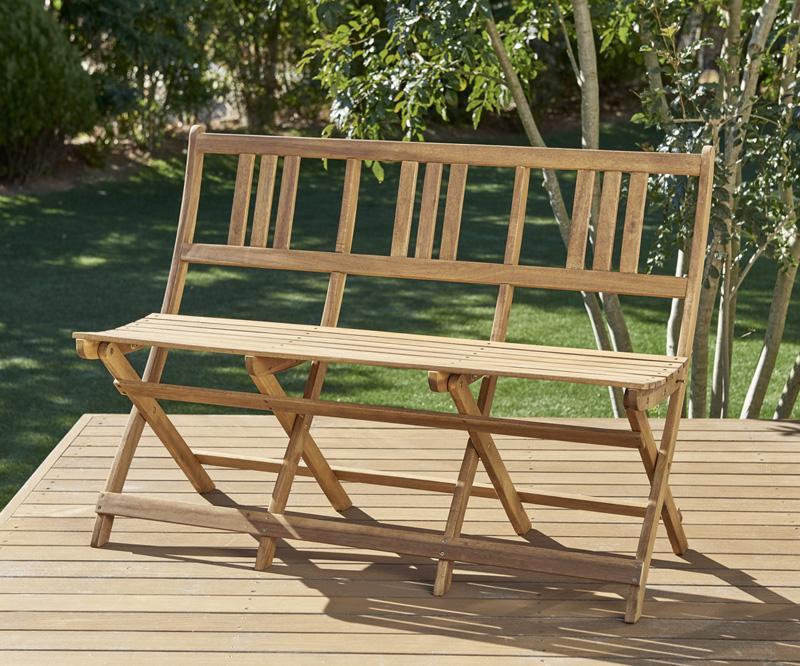 ベンチのサイズが選べる アカシア天然木ガーデンファニチャー Efica エフィカ ガーデンベンチ 3P