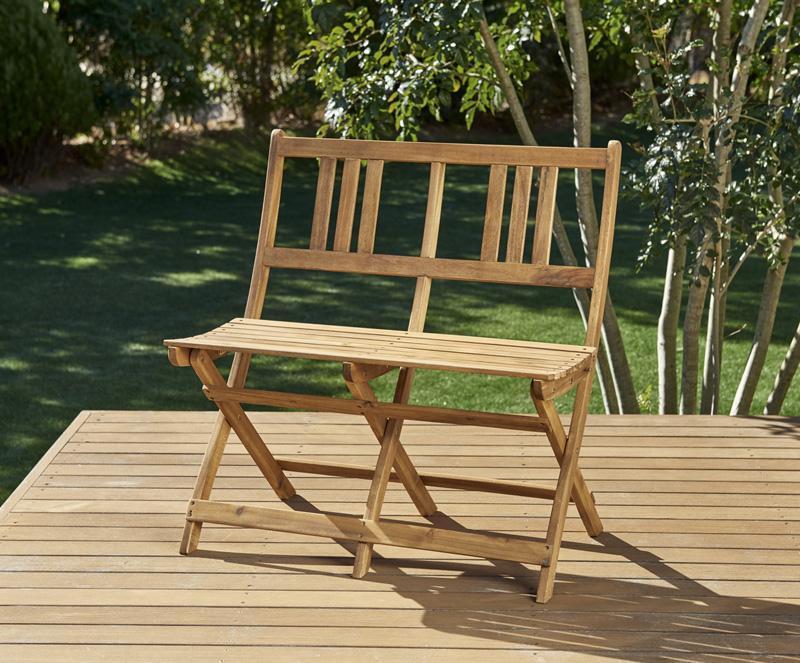 ベンチのサイズが選べる アカシア天然木ガーデンファニチャー Efica エフィカ ガーデンベンチ 2P【代引不可】