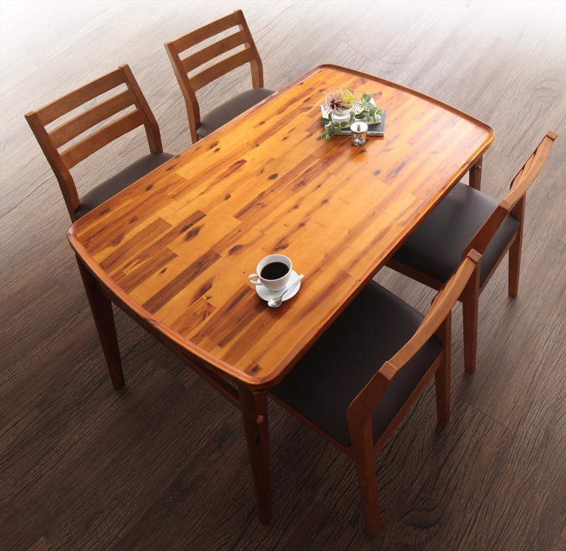 天然木モダンデザインダイニング alchemy アルケミー 5点セット(テーブル+チェア4脚) W120【代引不可】