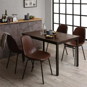 天然木パイン無垢材ヴィンテージデザインダイニング Liage リアージュ 5点セット(テーブル+チェア4脚) W120【代引不可】