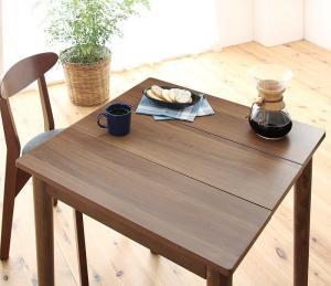 1Kでも置ける横幅68cmコンパクトダイニングセット idea イデア ダイニングテーブル ブラウン W68