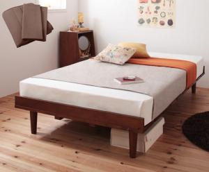 ショート丈北欧デザインベッド Niels ニエル スタンダードボンネルコイルマットレス付き フルレイアウト セミシングル フレーム幅80 ショート丈