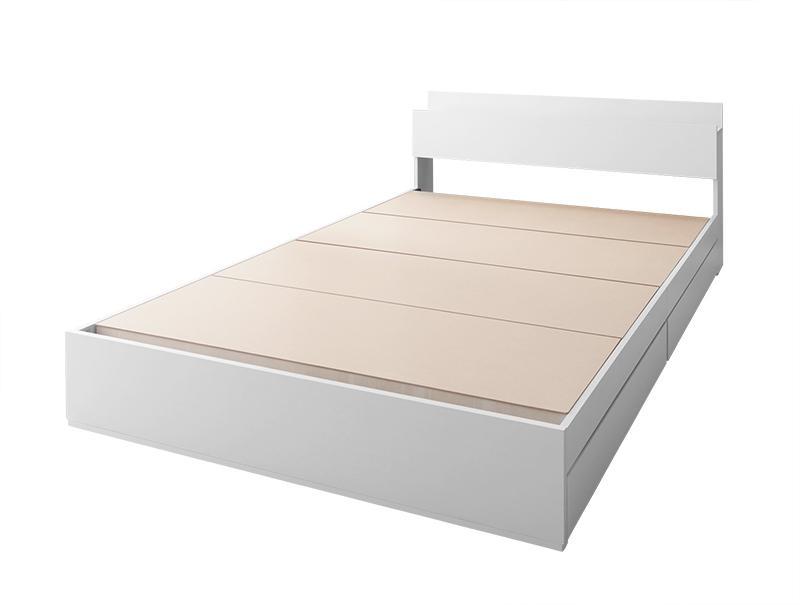 棚・コンセント付き収納ベッド ma chatte マシェット ベッドフレームのみ セミダブル【代引不可】