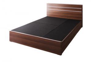 モダンライト・コンセント付き収納ベッド W.linea ダブルリネア ベッドフレームのみ シングル【代引不可】