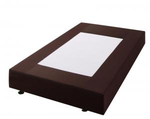 ホテル仕様デザインダブルクッションベッド セミダブル