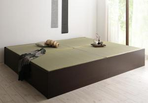 組立設置付 日本製・布団が収納できる大容量収納畳ベッド 悠華 ユハナ 洗える畳 ダブル 42cm【代引不可】