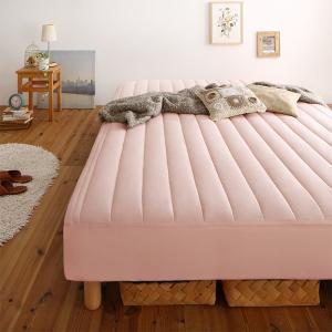 素材・色が選べるカバーリング脚付きマットレスベッド マットレスベッド ボンネルコイルマットレスタイプ 綿混素材 ダブル 15cm