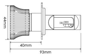 【あす楽】スフィアLEDヘッドライト ライジング2 SRH4A045 H4 Hi/Lo切替 4500K 12V車専用 日本製 3年保証 SPHERELIGHT スフィアライト RIZING LEDヘッドランプ