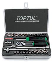 TOPTUL 6.3sq ラチェットレンチ ミリ&インチソケット SET GCAD2901 トップトゥル 工具 プロフェッショナルツール