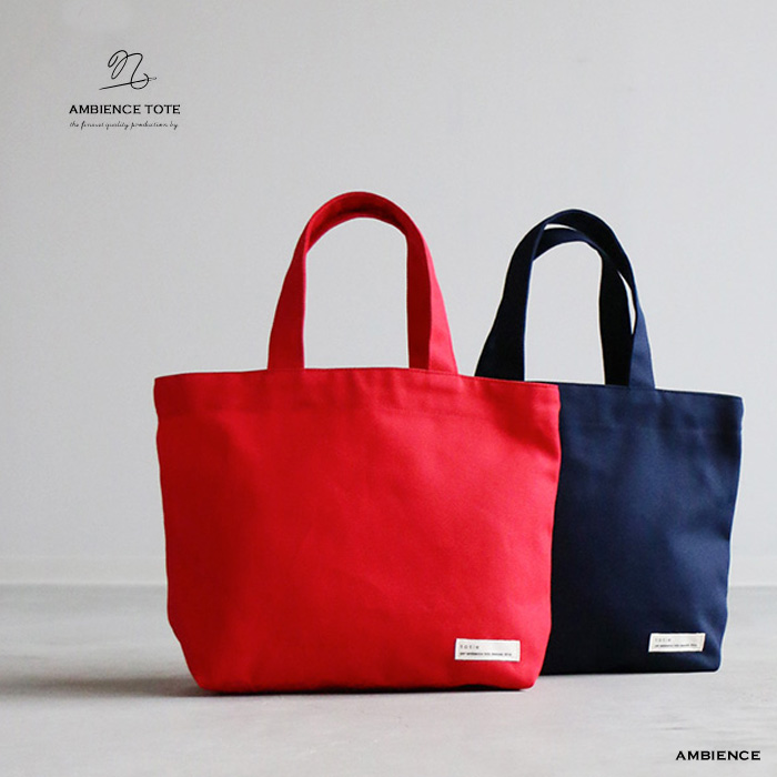 a8406462c8 ambience tote totie (Toti) cotton canvas tote bag S size   canvas   made in  Japan   lunch red Navy   white