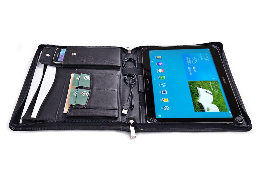 Samsung Galaxy Note Pro 12.2 用  エグゼクティブポートフォリオ 牛革レザー製   ファスナー付き