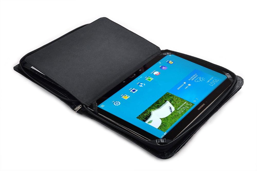 Samsung Galaxy Note Pro 12.2 用ケース エグゼクティブパッドフォリオ ハンドルとショルダーストラップ付き  牛革と馬毛製