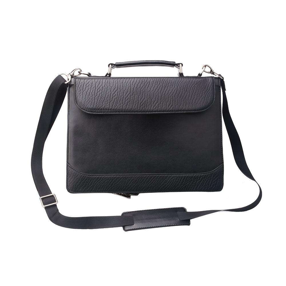 12.9 inch iPad Pro 用 レターサイズ[LTR]3穴式書類バインダー付き  プレミアムフォリオケース ショルダーストラップ付き,ブラック