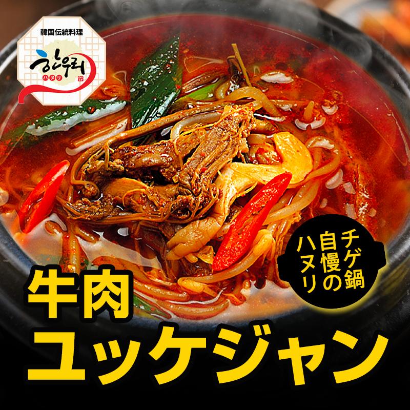 【冷東】「韓国伝統料理ハヌリ」 ハヌリの特製タデギでハヌリだけの旨味 ハヌリ特製ユッケジャン 550g (春雨付き)