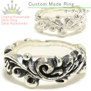Scrollwork silver ring Ruby marguerite sterling silver pealing, pinky ring, small, oversized, size, order and Maid, ring, ladies, handmade and adult simple, chic, cute, along with 10P28oct13fs3gm