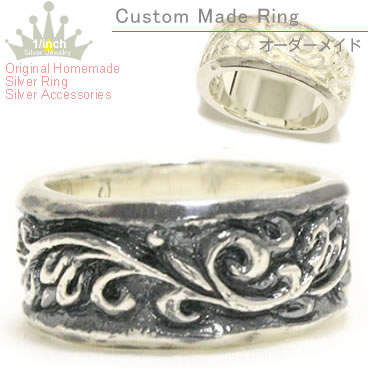 With scrollwork silver ring Ruby marguerite Arabesque ring sterling silver pealing, pinky ring, small, oversized, size, order and Maid, ring, ladies, handmade and adult simple, chic, cute, along with 10P14Nov13fs3gm