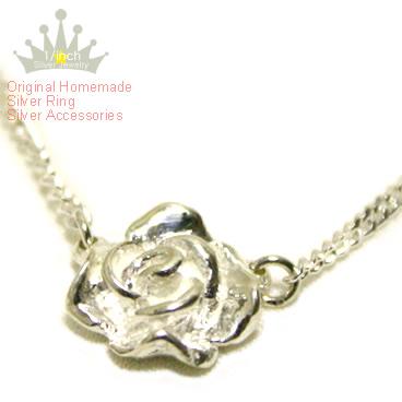 貴女の胸元に薔薇が輝く ローズシルバーネックレス -Rose silver 信憑 necklace-Ruby margueriteスターリングシルバー サイズ 大好評です オーダー メイド ペンダント レディース 重ね付 532P15May16 シンプル アンティーク調 手作り かわいい バラ お花のモチーフ 大人 シック