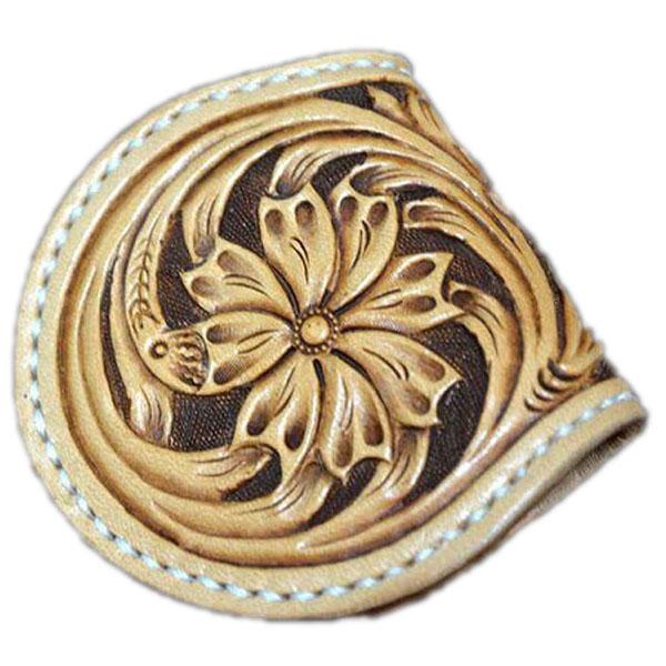 【コインケース カービング シェルダンスタイル カービング 小銭入れ】馬蹄型 革製財布 カービングウォレット