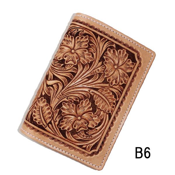 【ノートブック カバー b6】カービング ノート ブックカバー B6 b6サイズ 本革 革 ブックカバー 革製 事務用品