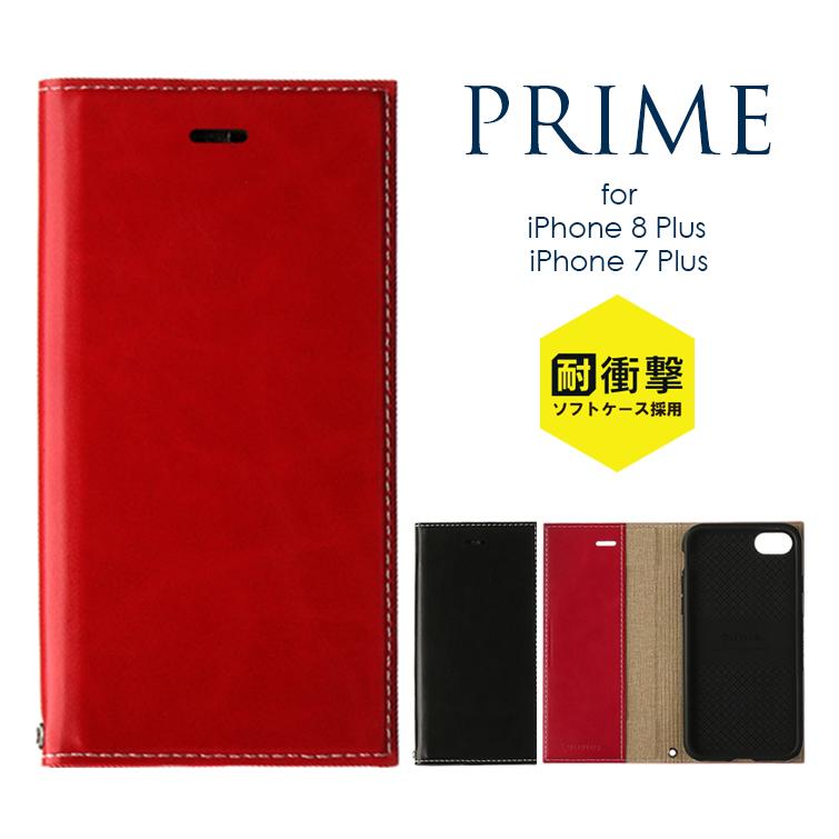 トラスト iPhone8 Plus 5%OFF iPhone7Plus 手帳型ケース 薄型PUレザーフラップケース アイフォン8プラス アイフォン7プラス PRIME